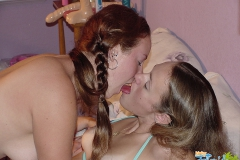 teen Girls Kissing