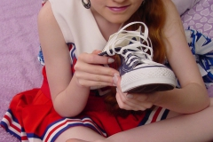 Amateur Teen Redhead Nicole Foot Fetish In Her High School Cheerleader Outfit