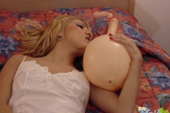 latina fucking dildo ball